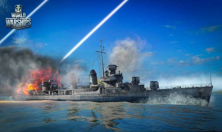 Краш-тест кораблей в World of Warships