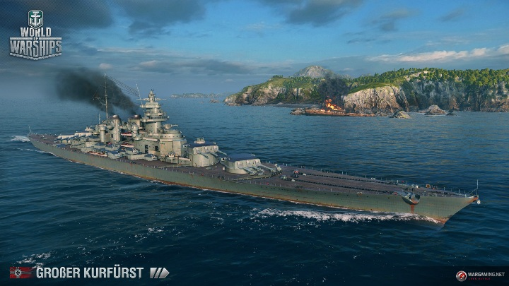 Линкор Grosser Kurfurst в World of Warships